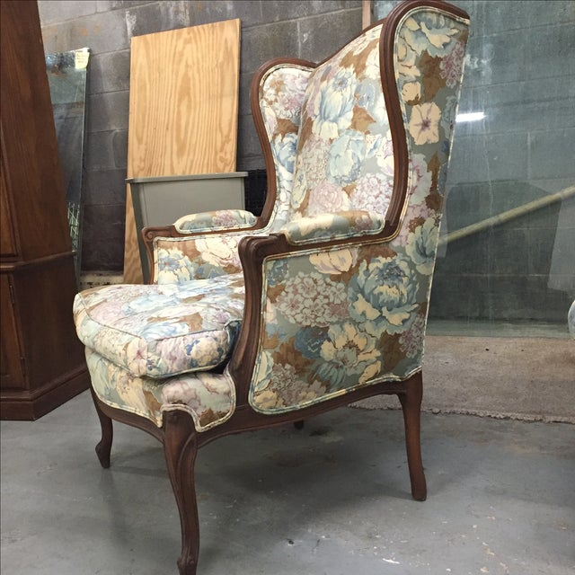 Large Peonies Upholstered Chairs - A Pair - Image 7 of 10