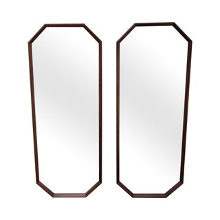 George Nelson for Herman Miller Walnut Frame Wall Mirrors - Pair