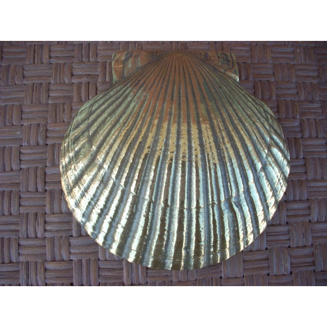 Brass Scallop Shell Door Knocker - Image 2 of 4