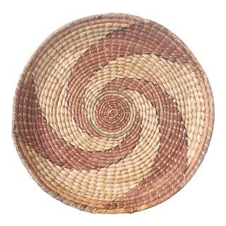 Navajo Swirl Large Round Basket/Wall Hanging