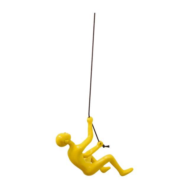 Climbing Man Wall Art Sculpture - Yellow - Image 1 of 5