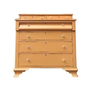 Mustard Yellow Antique Empire Style Dresser