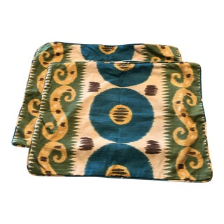 Lee Jofa Emir Ikat Pillow Covers - a Pair