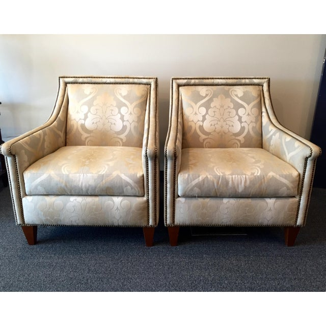 Bernhardt Upholstered Chairs - Pair - Image 2 of 7