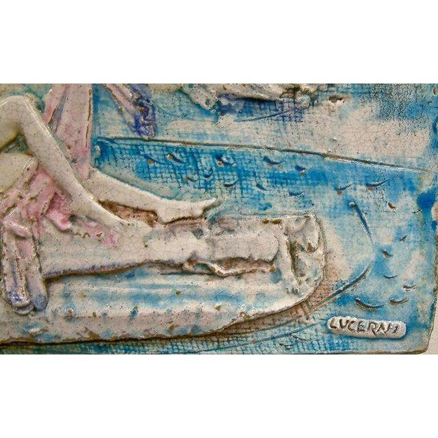 Ugo Lucerni Majolica Wall Relief - Image 5 of 8