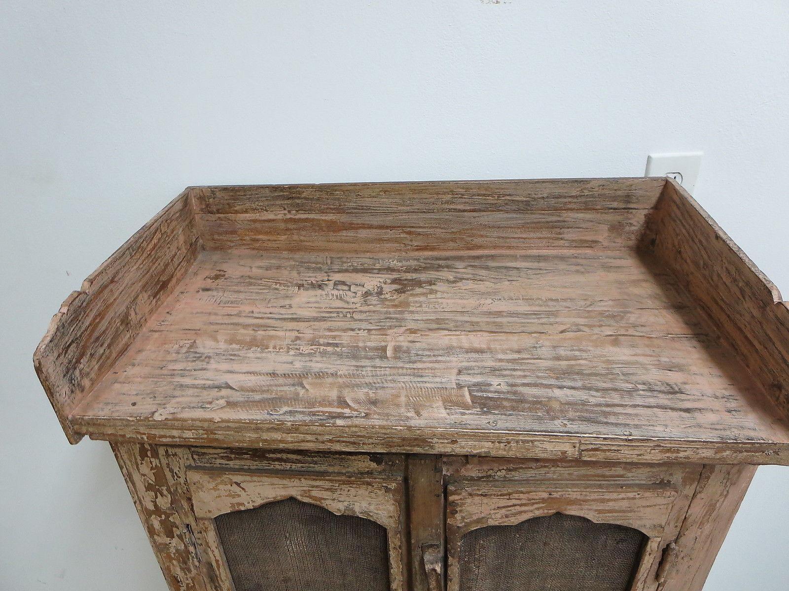 Antique Primitive China Cabinet Cupboard   Image 4 Of 7