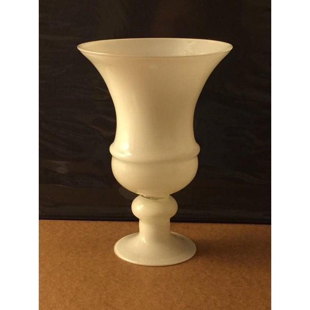 Image of Large White Glass Urn