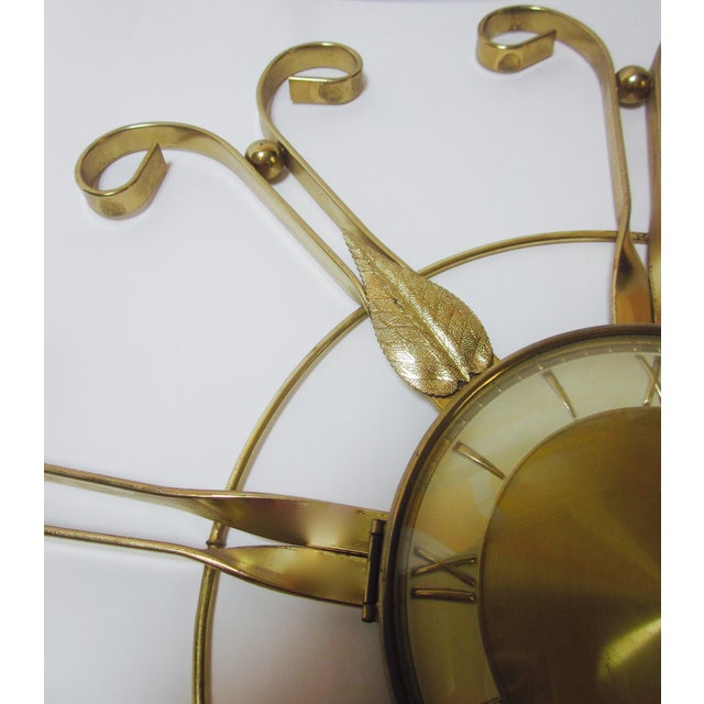 Mid Century Modern Hollywood Regency Atomic Clock - Image 5 of 11