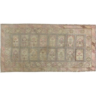 "Antique Khotan Distressed Rug - 5'1"" X 9'10"""