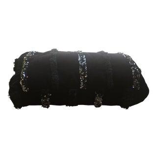 Moroccan Black Double Pouf