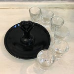 Image of Vintage Shot Glass Set With Carrier