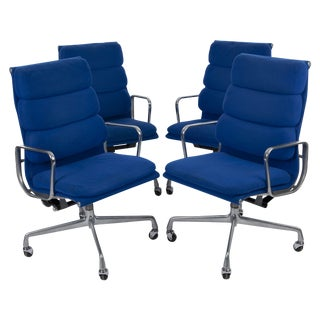 Blue Herman Miller Eames Lounge Chairs - Set of 4