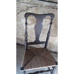 Image of American 18 C. Queen Anne Rush Seat Side Chair