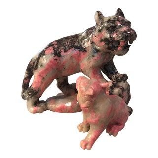 Marble Tiger Sculpture Figurine
