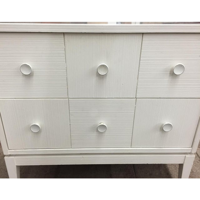 Mid-Century Kroehler White Side Chest of Drawers - Image 2 of 8