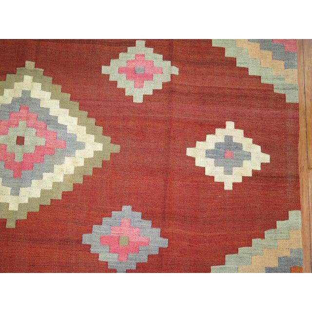 """Vintage Room Size Turkish Kilim - 8'5"""" x 11'6"""" - Image 4 of 5"""