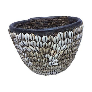 African Tribal Basket with Shells
