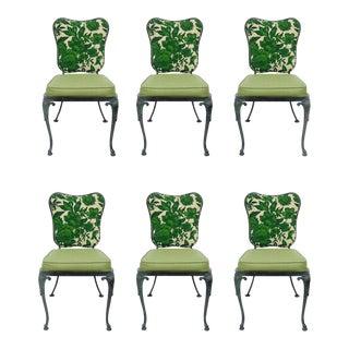 Set 6 Woodard Green Cast Aluminum Garden Patio Dining Chair French Victorian Vintage