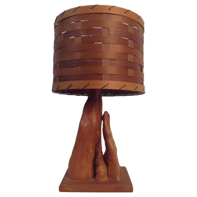 Vintage Cypress Knee Driftwood Table Lamp - Image 1 of 10