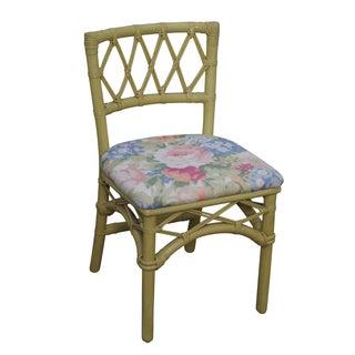 Ficks Reed Vintage Painted Rattan Side Chair