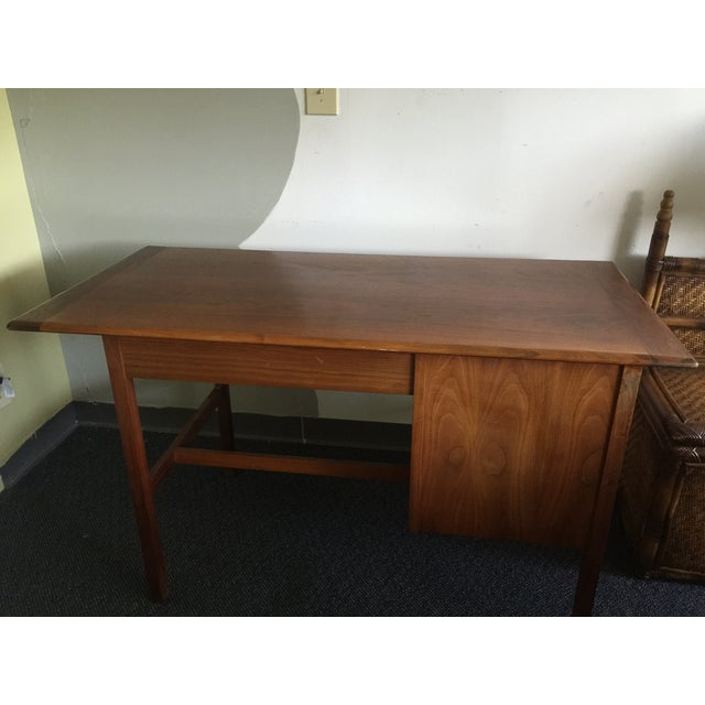 Mid-Century Modern Wooden Desk - Image 7 of 7