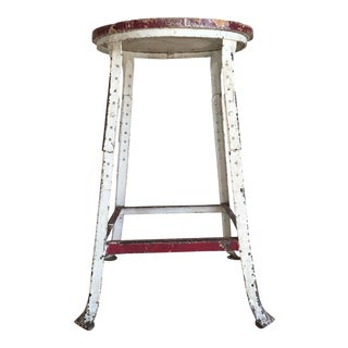 Industrial Wood & Metal Stool