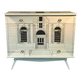 Piero Fornasetti Style Italian Building Design Dresser
