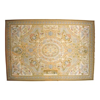 Aubusson French Wool Rug - 9′9″ × 14′2″