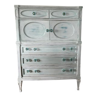 Vintage Shabby Chic 6 Drawer Chest
