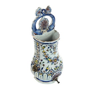 19th Century Antique Wall Pocket Enamel Fountain