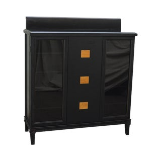 Black Asian Style Cabinet Bookcase