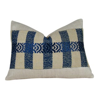 Japanese Silk Sakiori Obi Geometric Pillow Cover