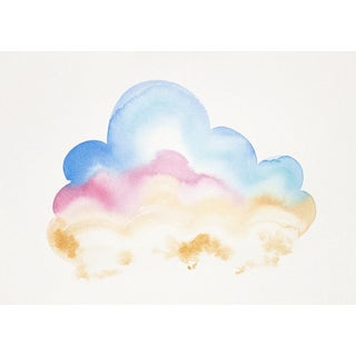 """Celia Agnes """"Clouds Shimmer"""" Watercolor Painting"""