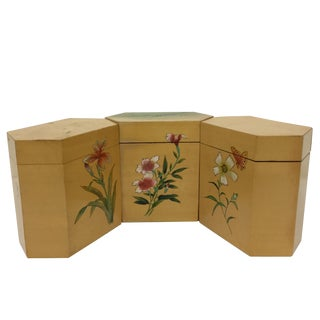 Vintage Japanese Tea Boxes - Set of 3