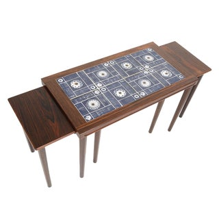 Danish Modern Rosewood Nesting Tables - Set of 3