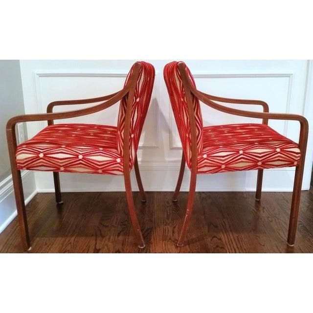 Stow Davis Velvet Geometric Chairs - A Pair - Image 2 of 8