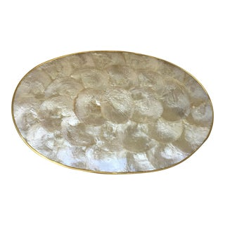 Shell & Brass Pearlescent Tray