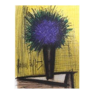 """Bernard Buffet """"Purple Flower"""" Lithograph"""
