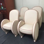 Image of Mid-Century Art Deco Club Chairs - Set of 4