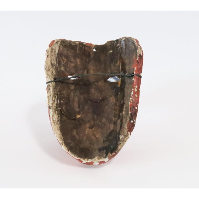 Red Wood Carved Mask - Image 5 of 6