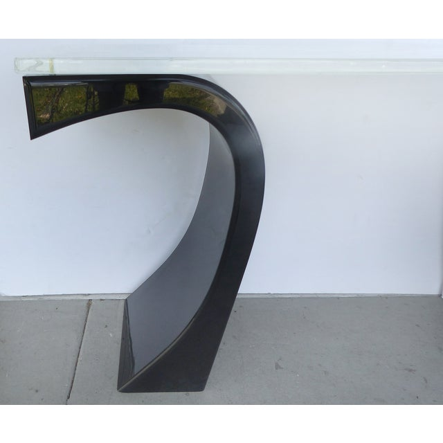 Curved Acrylic & Lucite Console - Image 4 of 6