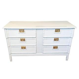 Vintage White Faux Bamboo Dresser