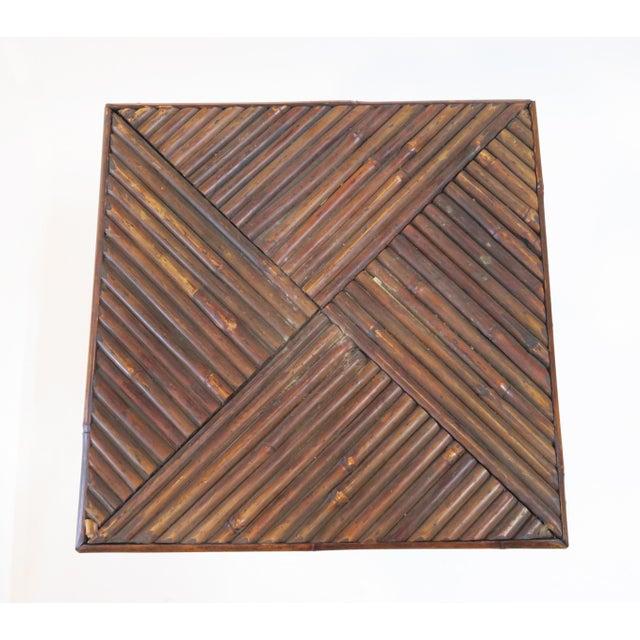Dark Brown Bamboo Pedestal - Image 7 of 7