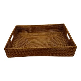 Natural Rattan Square Tray