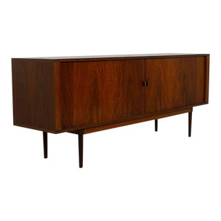 Danish Modern Tambour Sideboard / Room Divider in Walnut by Lovig