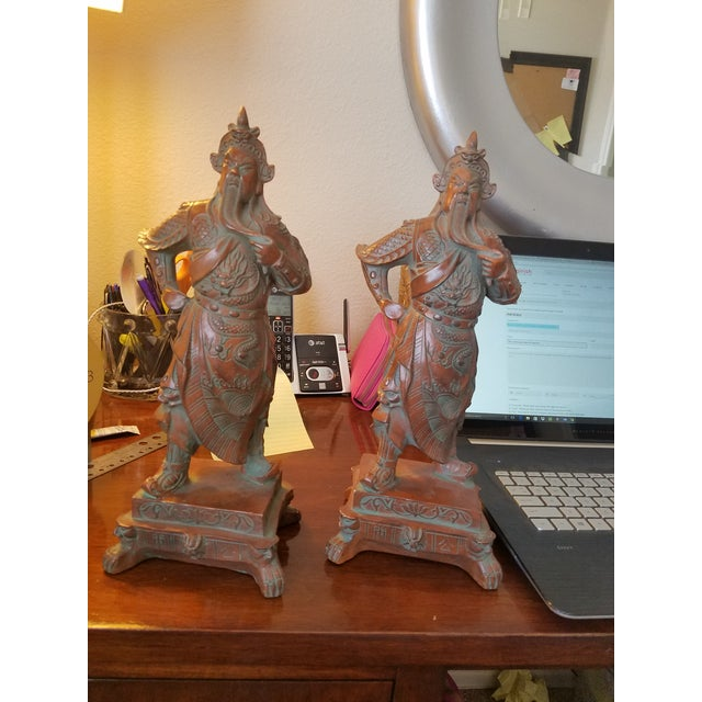 Chinese Warrior Figurines - A Pair - Image 5 of 7