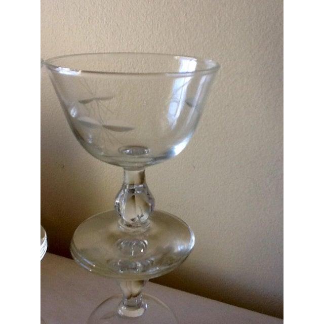 Image of Vintage Cut Glass Wine Glasses - Set of 4