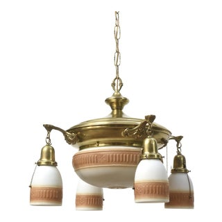 American Panlight With Five Glas Bowl Lights