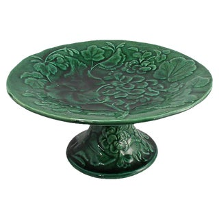 Antique English Majolica Cake Stand
