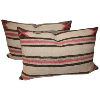 Faded Navajo Saddle Blanket Pillows